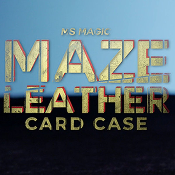 Maze Leather Card Case (schwarz)