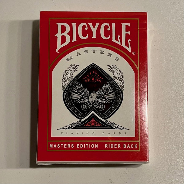 Bicycle Masters Playing Card rote Rückseite