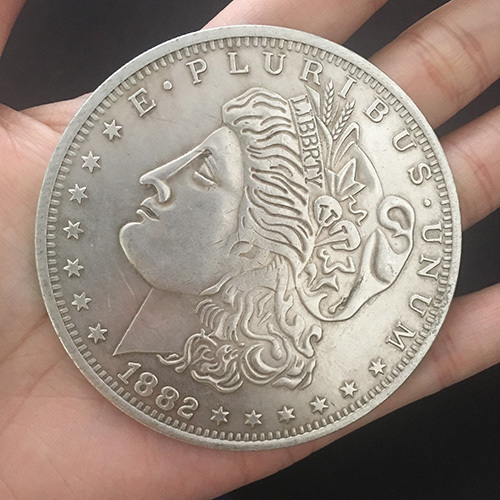 Morgan Dollar Riesenmünze